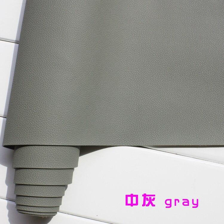 Gris 1mm de cuero de imitación de Tela de cuero para asientos interiores de coche, cuero acolchado tapicería