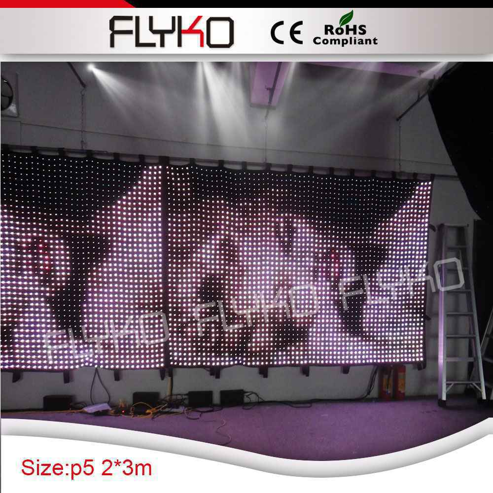Telón de fondo suave P50mm 2x3m Tamaño popular Precio del fabricante led cortina de vídeo electrónico telón de fondo