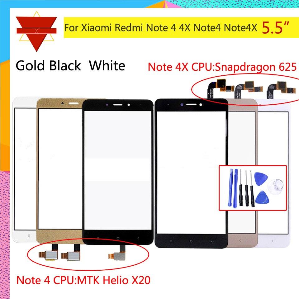Pantalla táctil Original Note 4 para Xiaomi Redmi Note 4 Redmi Note 4X pantalla táctil Sensor LCD pantalla digitalizador frontal vidrio exterior