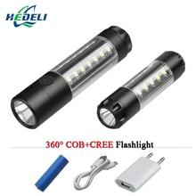 28led Warning lamp mini torch flashlight 18650 battery pen light COB flash light usb Recharge waterproof camping lampe torche