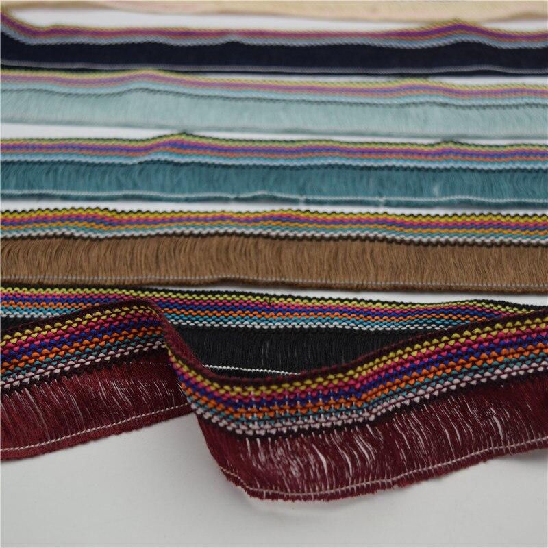 Cinta de encaje con flecos elegantes de 11 yardas, 4cm para manualidades, costura y tela, suministros para el hogar