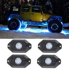 4pcs/set 9w LED deck light Under Body 12V Under LED Rock Light Car Light for Jeep SUV ATV Boat