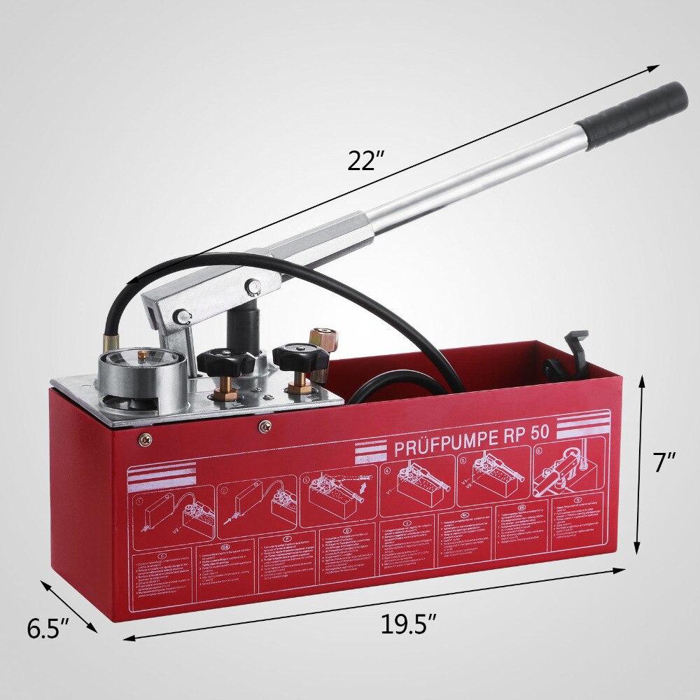 Bomba de Teste de Pressão Compatível com Rothenberger Solares de Enchimento Resistência de Baixa Hidrostática Sistemas Temperatura 12l Rp50