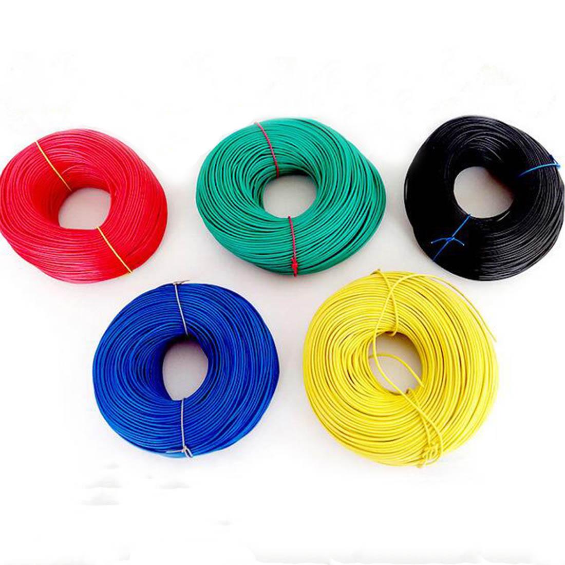 VENSTPOW 10 metros/lote 17AWG RV cable 1,0mm cable Flexible trenzado Multi-hilo equipo eléctrico núcleo de cobre PVC alambre DIY