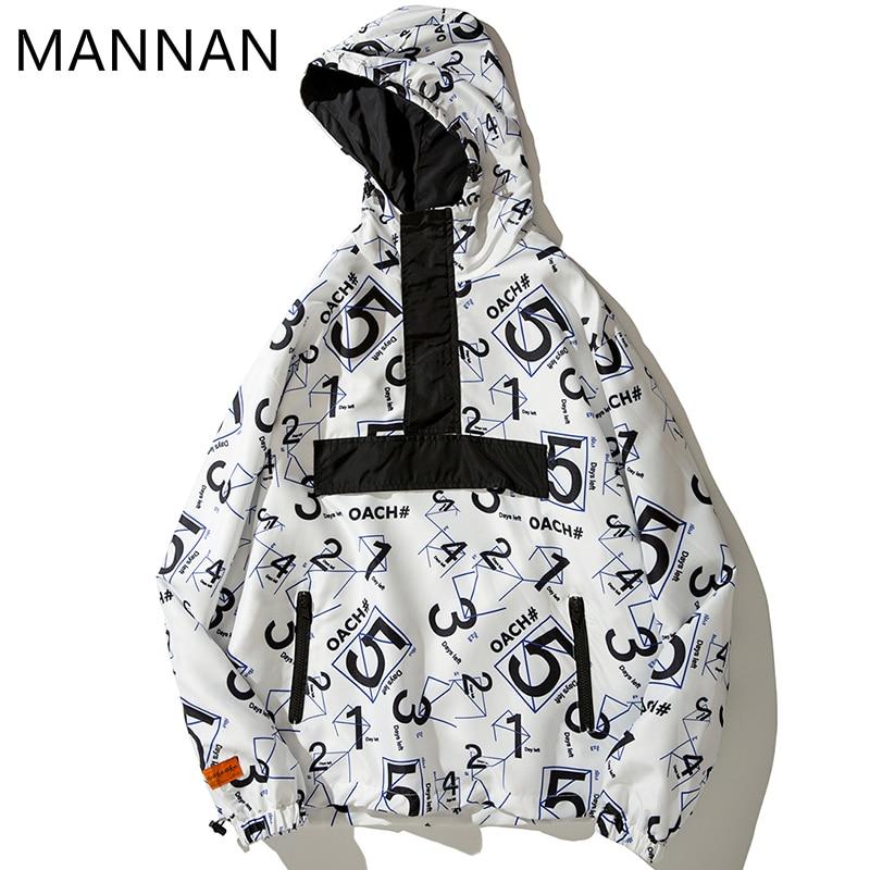 Mannan jaqueta de inverno dos homens modis hoodies streetwear número graffiti 3 m reflexivo outono hoodies blusão pulôver