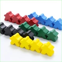 20 pieces carcassonne wooden pieces standard size 16mm meeples board game accessories