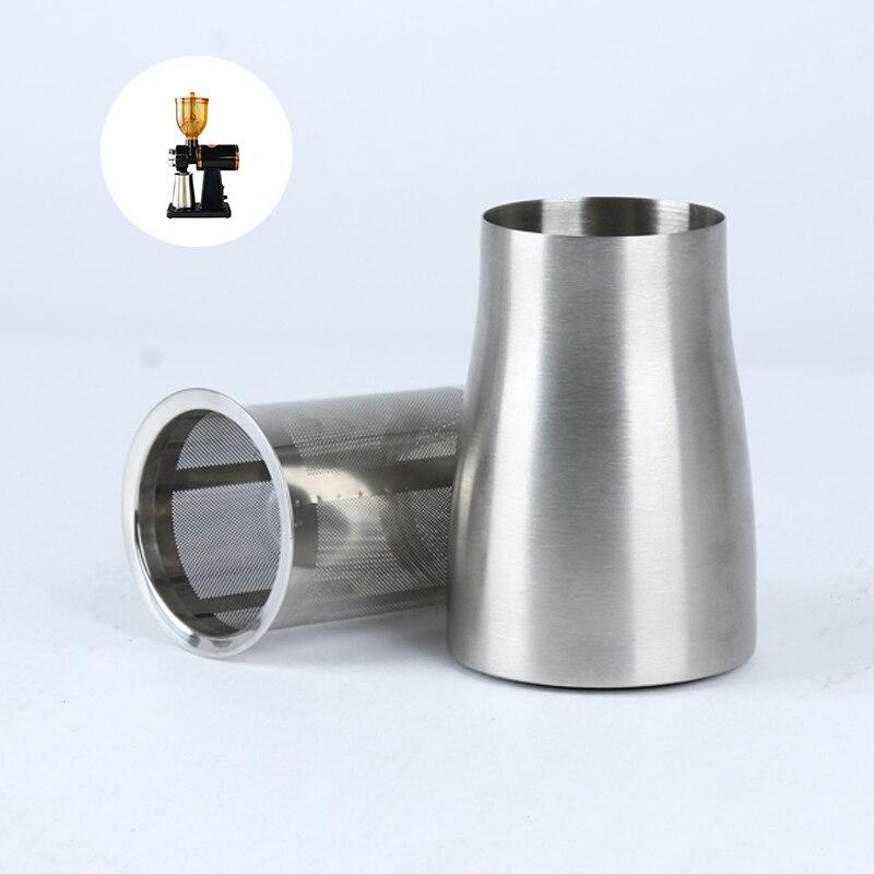 مطحنة بن كهربائية المغربل الفولاذ المقاوم للصدأ القهوة مرشح مسحوق صندوق طاحونة القهوة