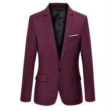Mens Korean slim fit fashion cotton blazer Suit Jacket black blue beige plus size M to 3XL Male blazers Mens coat Wedding dress