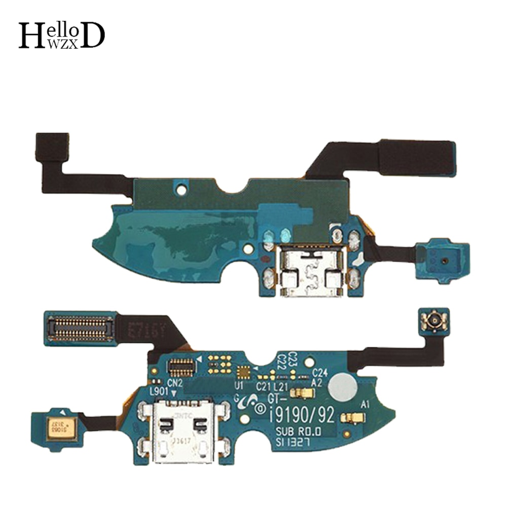 HelloWZXD Fita Flex Parte Jack USB Conector Dock Carregador de Carregamento porto Cabo Flex Para Samsung Galaxy S4 mini I9190 I9192 I9195