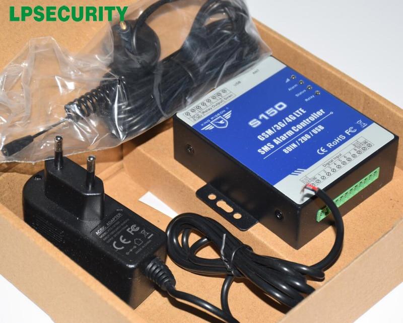 LPSECURITY GSM RTU تحكم S150 GSM أتمتة المنزل ضد السرقة إنذار مع الروبوت/ios APP NC/NO/نهاية خط نوع ، الجافة الاتصال