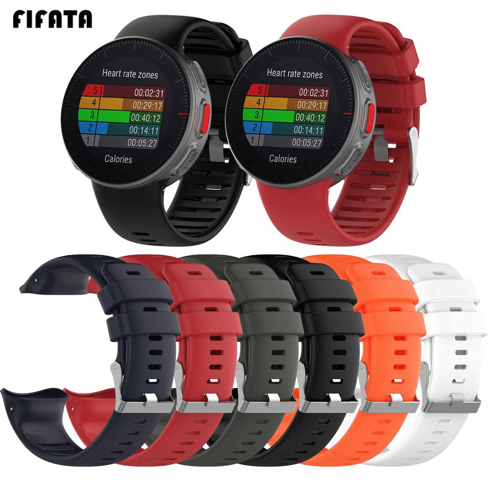 FIFATA Soft Silicone Strap For Polar Vantage V Watchband Replacement Smart Watch WristBand Wearable Device Accessories For Polar