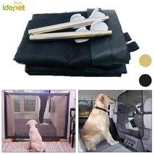 New Dog Gate Mesh Magic Pet Gate Fences For Dog Cat Portable Folding Safe Guard Install Pet Dog Safety Enclosure Dog Fences 25