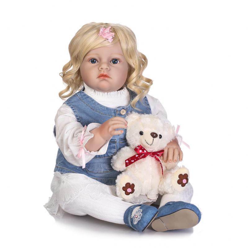 Muñecas de tamaño grande 70CM NPK reborn niño niña muñecas de silicona suave tienda de ropa modelo niños regalo bebe renacido bonecas