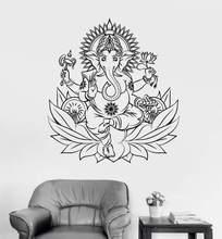 Autocollants muraux en vinyle   Décoration murale en Art bouddha, méditation Yoga, maison, autocollants de salon moderne, décor pour salon moderne, XL26