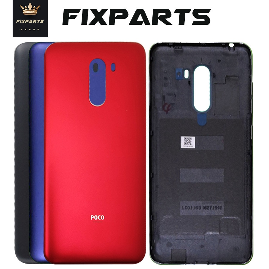 for Xiaomi PocoPhone F1 Battery Cover Rear Door Housing Case Panel Side button Power Volume Key For