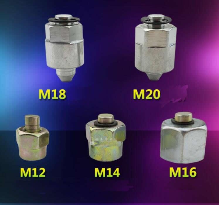 Enchufe de carril común M12,M14,M16,M18,M20 para tubo de carril común, tapa de inyector de combustible de carril común T0139