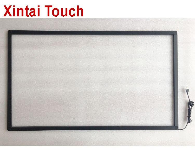 Xintai-شاشة تعمل باللمس بالأشعة تحت الحمراء مقاس 58 بوصة ، لوحة تعمل باللمس 10 نقاط ، إطار ir بدون زجاج ، التوصيل والتشغيل