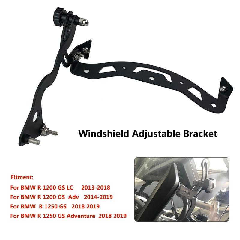 R1200GS Windscreen Bracket Mount For BMW R1200 GS LC Adventure 14-18 / R1250 GS Adventure 18-19 Adjustable Windscreen Holder