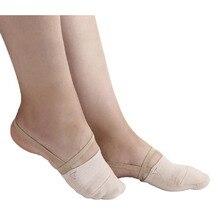 Gymnastique rythmique orteil chaussures doux demi chaussettes tricotées Art de salon accessoires de gymnastique Ginastica élastique danse pied protection chaussures