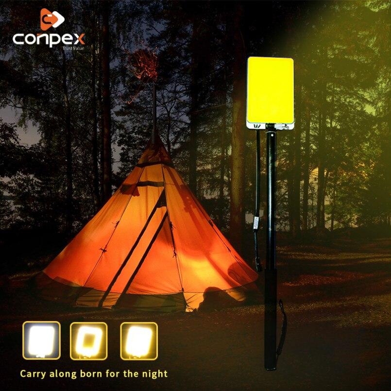 Reflector LED portátil 46W IP65 iluminación de pared exterior impermeable móvil 3M Pilar telescópico reflector linterna de camping