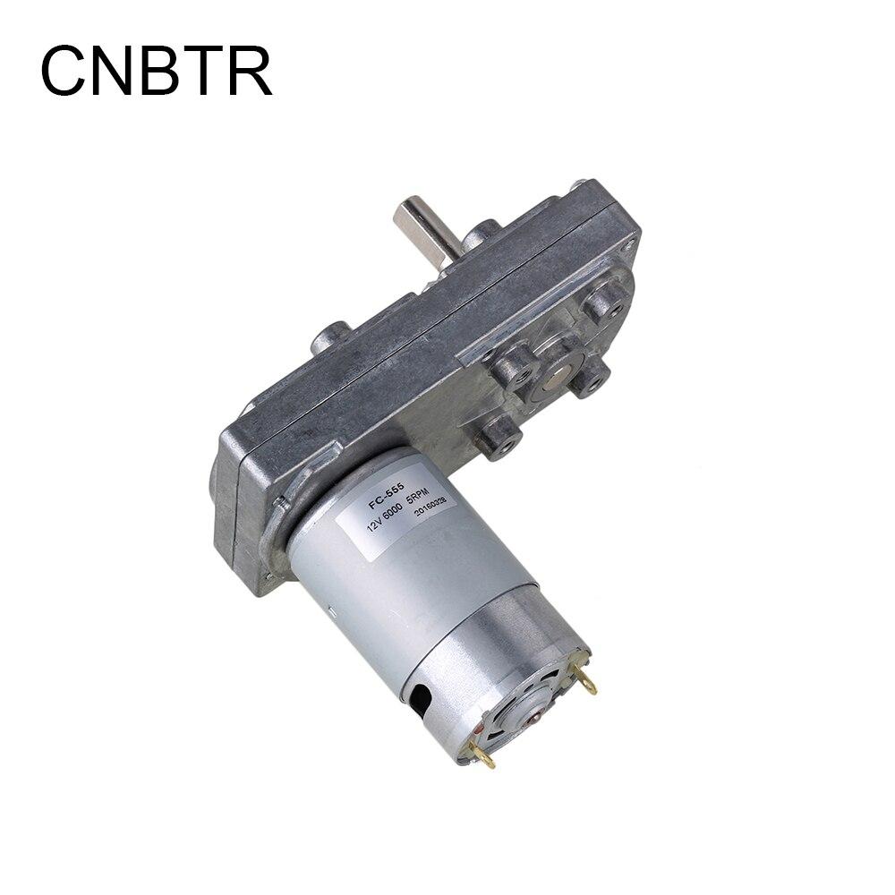 CNBTR, 12V, 6RPM, velocidad sin carga, alto Torque, caja reductora cuadrada, Motor engranado