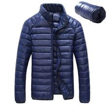 2020 frühling Herbst Weiß Ente Downs Jacke Männer Ultraleicht Tragbare Casual Winter Warme Parkas Mantel Wasserdichte Jacken Outwear 6XL