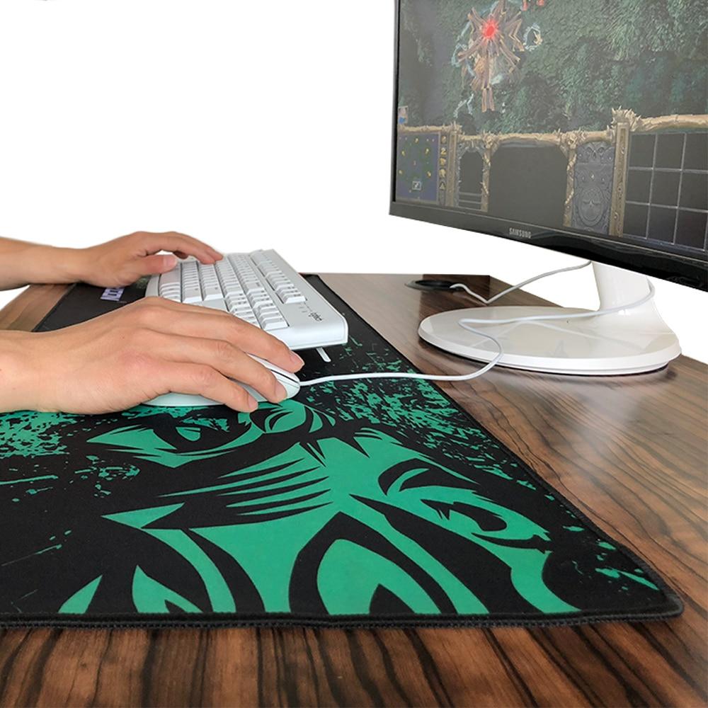 Vendite calde Verde Leone Grande Gaming Mouse Pad Lockedge Mouse Zerbino Per Il Computer Portatile Del Computer Scrivania Pad Tastiera Zerbino Mousepad per gamer