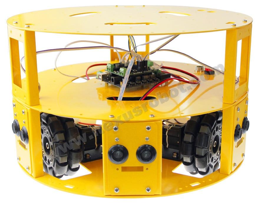 3WD 100mm Omni rueda Arduino robótica coche 10006