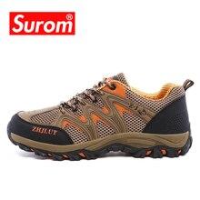 Zapatos de senderismo Unisex SUROM, zapatos de Trekking antideslizantes al aire libre, transpirable, de malla de aire, Krasovki, para hombres y mujeres, Verano