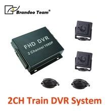2 채널 1080 p 풀 hd 모바일 기차 cctv dvr + 2 pcs 2.0mp ahd 카메라 + 2 pcs 5 미터 비디오 케이블