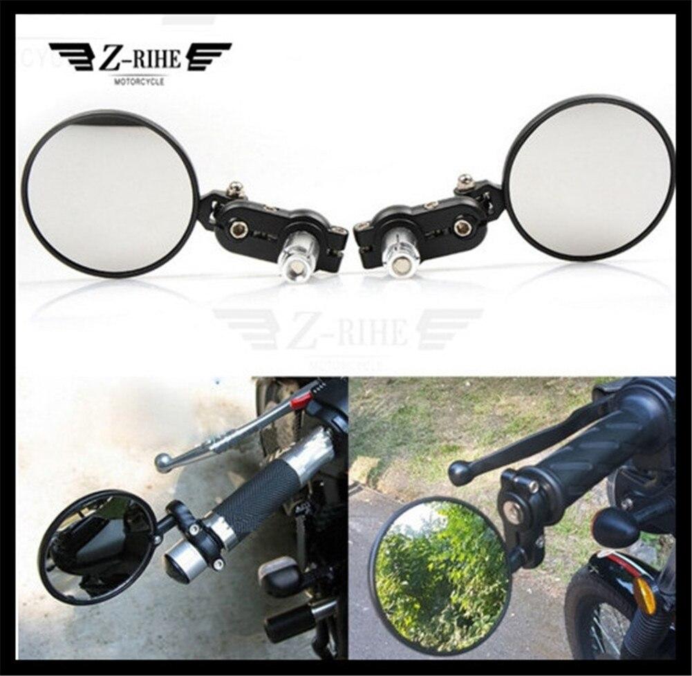 Motorcycle Handlebar Rear View Side Mirror Rearview Universal for Yamaha FZ1 Fazer ABS FZ6 Fazer S2 FZ8 FZS1000 Fazer MT09