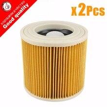 2 Pcs/lot remplacement air poussière filtres sacs pour Karcher aspirateurs pièces cartouche filtre HEPA WD2250 WD3200 MV2 MV3 WD2 WD3