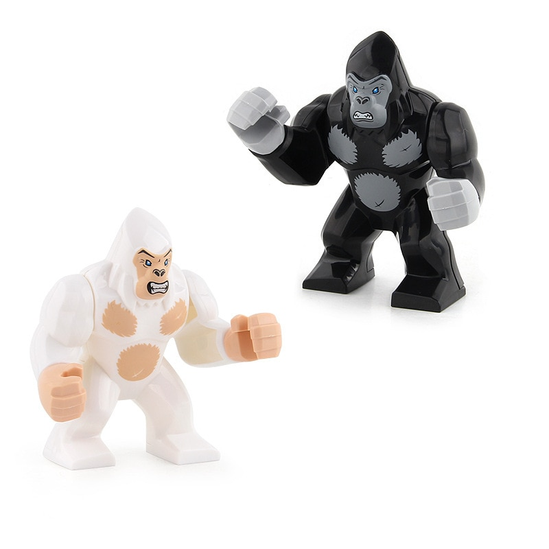 DIY City Animal Series Zoo Gorilla Building Blocks Sets Bricks Classic Forest Model Kids Toys Gifts