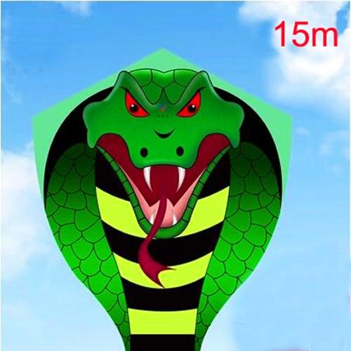 free shipping high quality large 15m snake kite reel kids kite flying toys ripstop nylon fabric kite bar fishing kite dragon 3d недорого