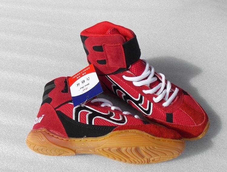 Борцовские ботинки профессиональная обувь для бокса резиновые дышащие