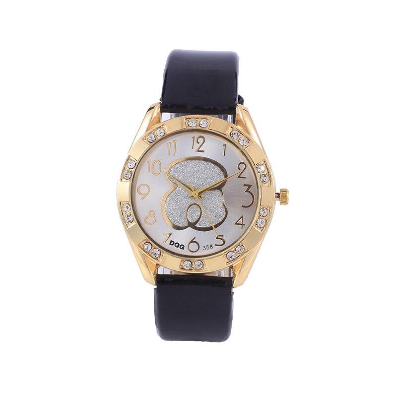 Reloj de mujer a la moda, relojes dama reloj de pulsera de lujo de cuero de cristal de cuarzo, regalo para chicas y señoras, regalo para estudiantes, regalo Chasy