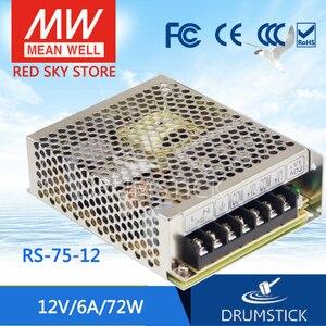 Оптовая цена означает хорошо RS-75-12 12 В 6А meanwell RS-75 12 В 72 Вт Один выход импульсный источник питания