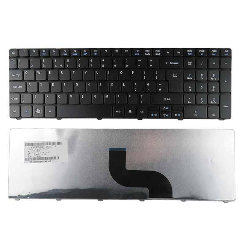 GZEELE-teclado para ordenador portátil, accesorio para Acer Aspire 5742 5742G 5742Z 5742ZG...