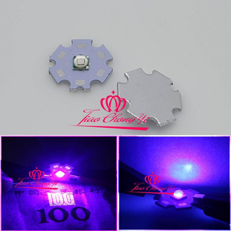 10 PIÈCES T6 10W 5050 UV Ultraviolets 395-400nm SMD LED Diode Démetteur 3.2V 3A