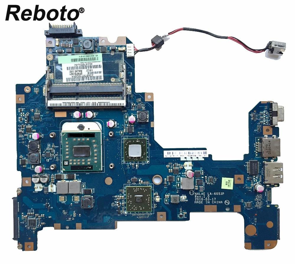 Reboto para Toshiba L670D L675D placa base de computadora portátil K000103980 DDR3 NALAE LA-6053P REV 1,0 placa base 100% probado envío rápido