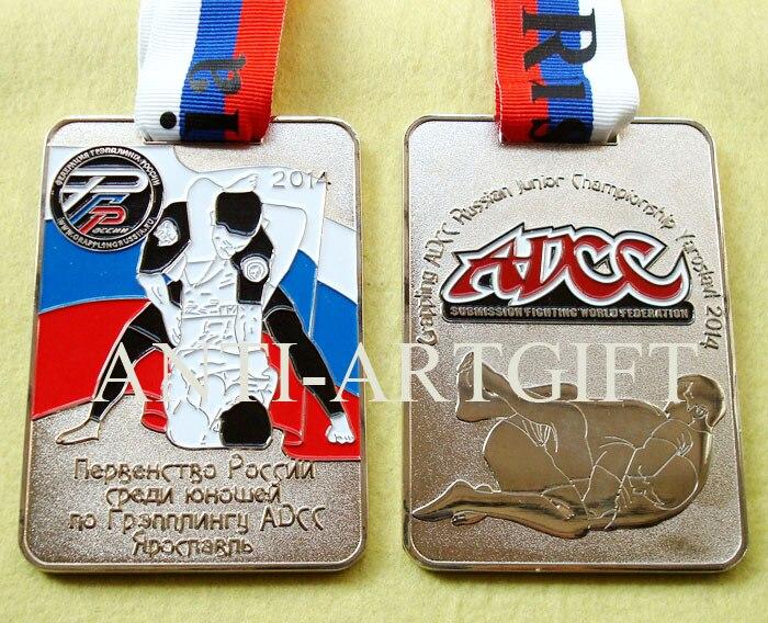 2016 medallón grande ruso ADCC deporte premio forma cuadrada