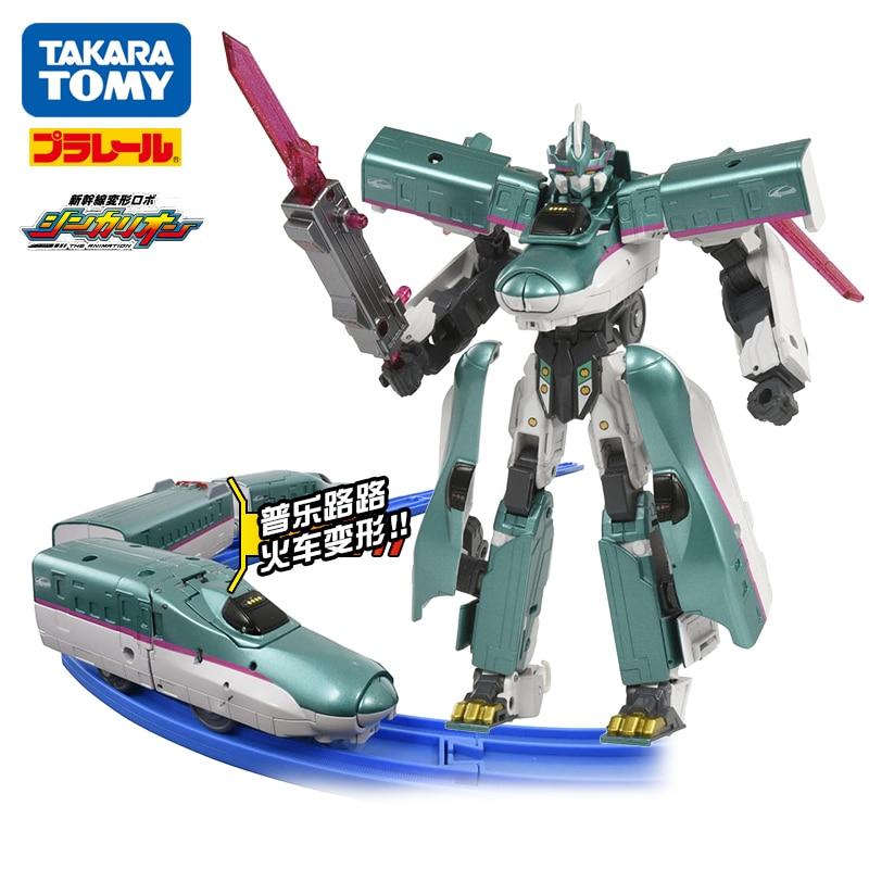 Takara Tomy Plarail Shinkansen Shinkarion E5 Hayabusa Verformung Roboter Shinkarion DXS01 Spielzeug Zug Neue