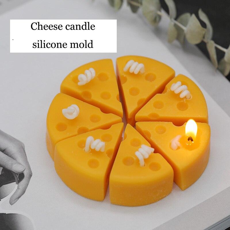 Siliconen kaas kaars schimmel DIY Gips kaas schimmel kaas cake fondant mould