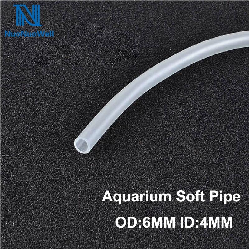 NuoNuoWell 2M/3M/5M/10M Aquarium Air line Silicone Tube 4X6MM Hose Fish Tank Oxygen Pipe Air Pump Stone Bubble Accessory