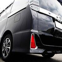 For Toyota Noah Voxy Chrome Rear Bumper Fog Light Lamp Cover 2014 2015 2016 Trim Reflector Foglight Garnish Molding