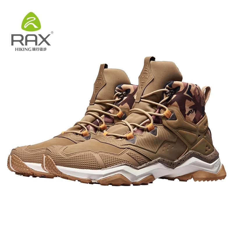 أحذية المشي لمسافات طويلة Rax للرجال, أحذية تكتيكية مقاومة للماء للرجال ، أحذية رياضية للجبال في الهواء الطلق ، أحذية مشي من الجلد الطبيعي ، خف...