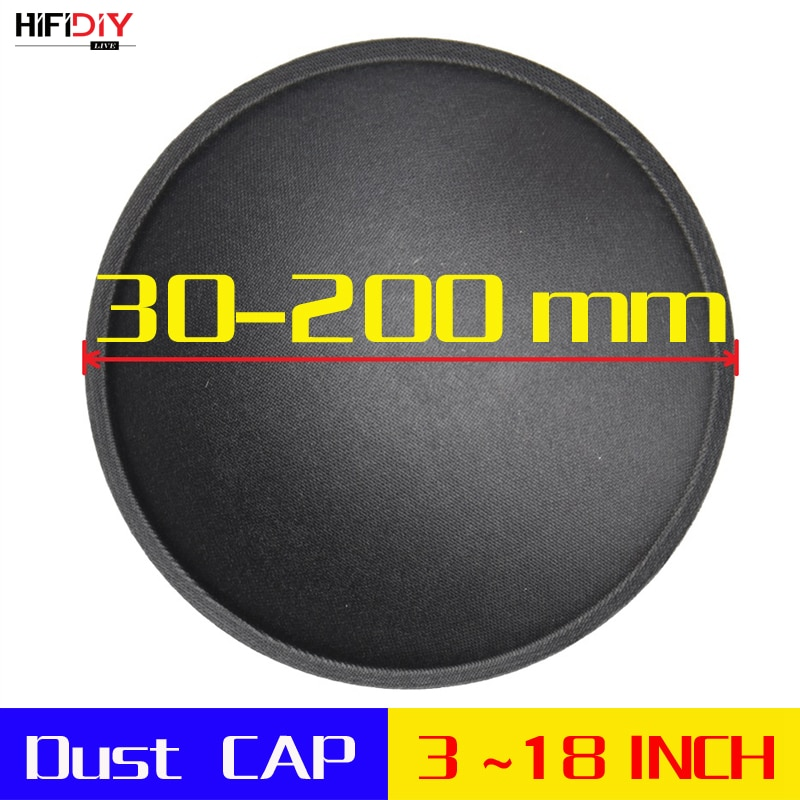 """HIFIDIY LIVE 3-18 """"pulgadas woofer altavoz piezas de reparación de accesorios de audio negro polvo de papel de cubierta de cúpula polvo CAP Series (35 ~ 150mm)"""