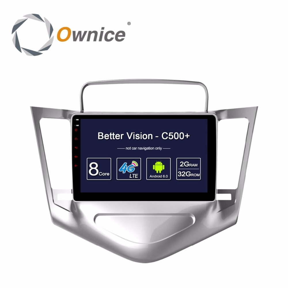 HD 9 pulgadas Android 6,0 Octa Core 2GB RAM + 32GB ROM reproductor de DVD de coche para Chevrolet Cruze 2009-2014 GPS Navi Radio Estéreo BT TPMS DAB +