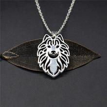 Elfin, collares de samoyedo de moda, collar de perro de colores dorados y plateados, joyería samoyedo, collares, joyería para hombres y mujeres