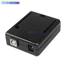 Noir ABS Boîtier En Plastique étui de Protection Coque de Boîte Pour Arduino UNO R3 Compatible USB Courant Court Protection kit de bricolage Un Chaud